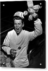 Food Vendor At Big Game Acrylic Print by Retro Images Archive