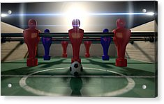 Foosball Table Acrylic Print