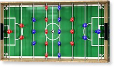 Foosball Table Top View Acrylic Print