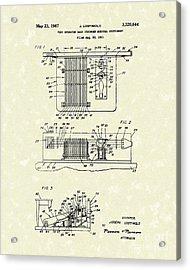 Foot Guitar 1967 Patent Art Acrylic Print by Prior Art Design
