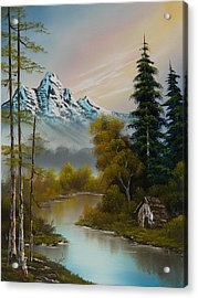 Mountain Sanctuary Acrylic Print by C Steele