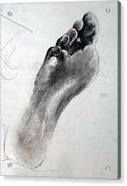 Foot Study Acrylic Print by Corina Bishop