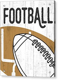 Football Acrylic Print by Aubree Perrenoud