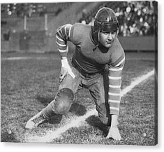 Football Fullback Player Acrylic Print by Underwood Archives