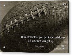 Football Get Up Acrylic Print by Paul Ward