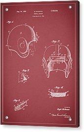 Football Helmet 1954 - Red Acrylic Print
