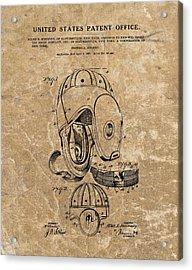 Football Helmet Patent Vintage Acrylic Print