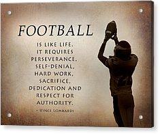 Football Acrylic Print by Lori Deiter