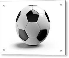Football On A White Background Acrylic Print by Atomic Imagery