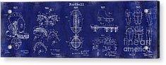 Football Patent History Blue Acrylic Print