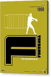 Football Poster Acrylic Print by Naxart Studio