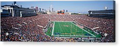Football, Soldier Field, Chicago Acrylic Print by Panoramic Images