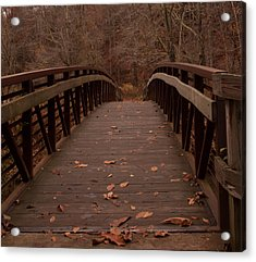 Footbridge At Conkle's Hollow Acrylic Print