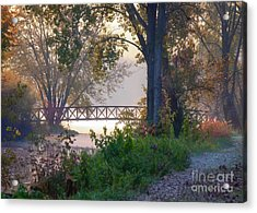 Acrylic Print featuring the photograph Footbridge II by Kari Yearous