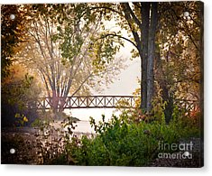 Acrylic Print featuring the photograph Footbridge by Kari Yearous