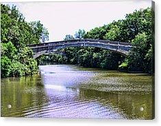 Footbridges On The Genesee Acrylic Print