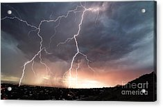 Acrylic Print featuring the photograph Foothills Strike by Brian Spencer