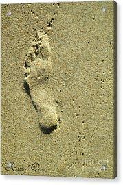 Footprint Acrylic Print by Lorraine Heath