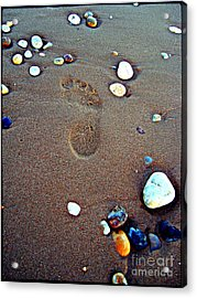 Acrylic Print featuring the photograph Footprint by Nina Ficur Feenan