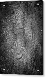 Footprint Of Unknown Person Acrylic Print