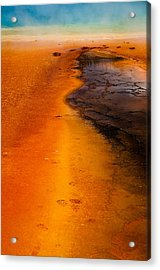 Footprints And Reflections Acrylic Print by Shawn Brannon