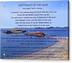 Footprints In The Sand 2 Acrylic Print