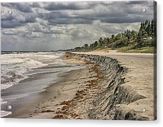Footprints In The Sand Acrylic Print by Dennis Baswell