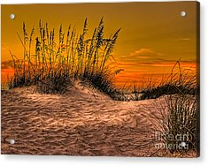 Footprints In The Sand Acrylic Print by Marvin Spates