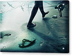 Footprints Acrylic Print by James David Phenicie
