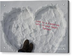 Footprints Acrylic Print by Nicole Markmann Nelson