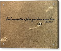 Footprints Quote Acrylic Print by JAMART Photography