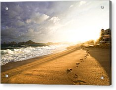 Footsteps In The Sand Acrylic Print by Eti Reid