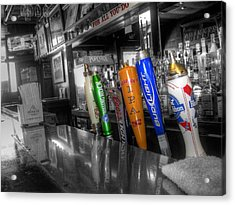 For All You Do - Beer Taps - Selective Color Acrylic Print