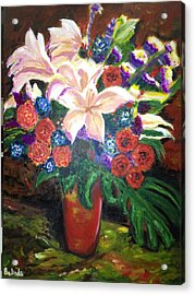 Acrylic Print featuring the painting For My Friend Lily by Belinda Low