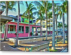 Acrylic Print featuring the photograph For Myers Beach Restaurant by Timothy Lowry