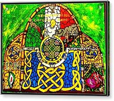 For The Families Of Irish Pows Acrylic Print by Brett Genda