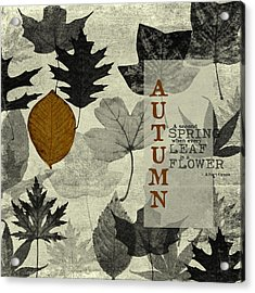 For The Love Of Autumnn Acrylic Print by Bonnie Bruno