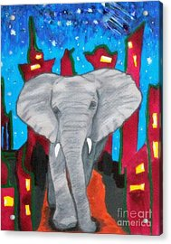For The Love Of Elephants Acrylic Print