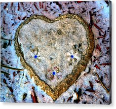 For The Love Of Winter Acrylic Print by Deena Stoddard