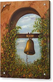 Acrylic Print featuring the painting For Whom The Bell Tolls Sold by Susan Dehlinger