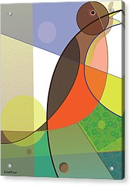 Foraging Robin Acrylic Print
