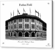 Forbes Field Acrylic Print by Charles Ott