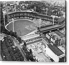 Forbes Field In Pittsburgh Acrylic Print by Underwood Archives