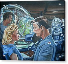 Acrylic Print featuring the painting Forbidden Planet by Bryan Bustard
