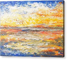 Acrylic Print featuring the painting Force Of Nature 5 by Jane  See