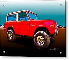 Ford Bronco Classic From Vivachas Hot Rod Art Acrylic Print