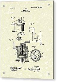 Ford Carburetor 1898 Patent Art Acrylic Print by Prior Art Design