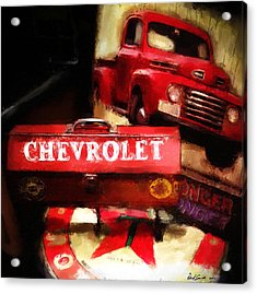 Ford Chevrolet Acrylic Print by Robert Smith