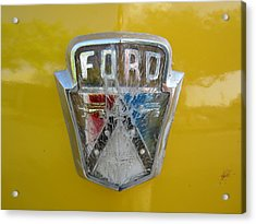Ford Acrylic Print by Denver Lukas