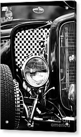 Ford Dragster Monochrome Acrylic Print